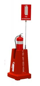 Red Fire Extinguisher Stand CFESTAND