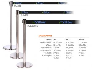 Retractable Stanchions and Line Barriers