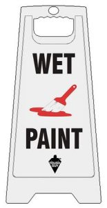 Plastic Wet Paint Sign
