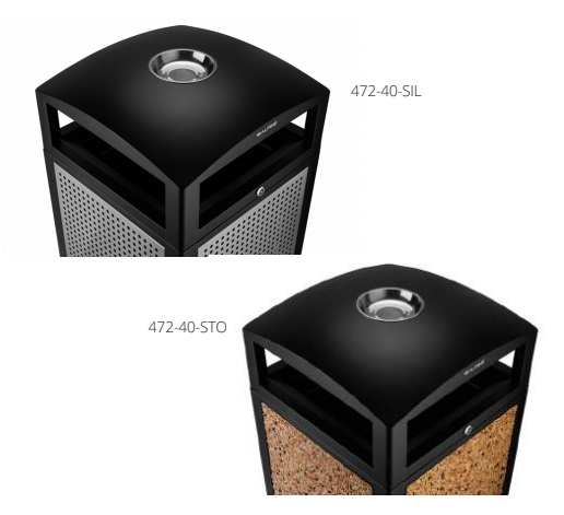 Commercial Outdoor Trash Cans Receptacles with Ashtray