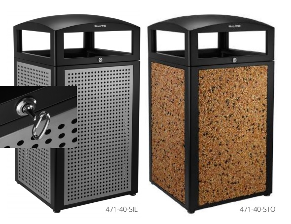 Commercial Outdoor Trash Cans Receptacles