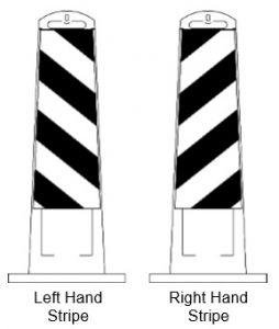 Orange and White Striped Vertical Panel