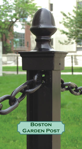 Black Powder Coated Boston Garden Post