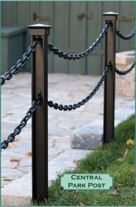 Black Powder Coated Central Park Post